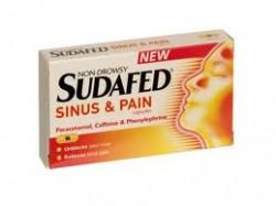 SUDAFED Sinus & Pain - 16 Capsules