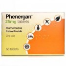 PHENERGAN 25mg - 56 Tablets