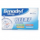 BENADRYL Allergy Relief - 24 Capsules