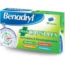 BENADRYL PLUS Capsules - 12 Pack