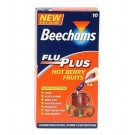 BEECHAMS Flu Plus Stick Sachets Hot Berry Fruits - 10 Pack
