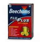 BEECHAMS Flu Plus Stick Sachets Hot Lemon - 10 Pack