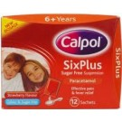 CALPOL SIX PLUS sachets sugar-free 250mg/5ml -12 pack