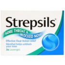 STREPSILS Lozenges Sore Throat & Blocked Nose - 36 pack