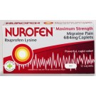 NUROFEN MIGRAINE PAIN Maximum Strength Caplets 684mg -12 pack