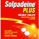 SOLPADEINE Plus - 16 Soluble Tablets *Please note - we can only dispatch up to 2 codeine items per order*