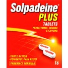 SOLPADEINE PLUS - 16 Tablet Pack *Please note - we can only dispatch 1 codeine item per order*