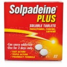 SOLPADEINE Plus - 32 Soluble Tablets *Please note - we can only dispatch up to 2 codeine items per order*
