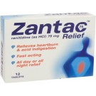 ZANTAC 75 RELIEF - 12 Tablets