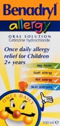 BENADRYL Allergy Solution Relief 1mg/ml- 100ml