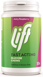 Lift Juicy Raspberry Fast Acting Glucose - 50 Chews