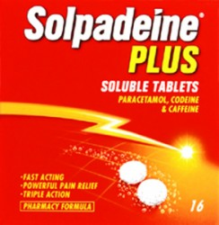 SOLPADEINE Plus - 16 Soluble Tablets *Please note - we can only dispatch 1 codeine item per order*