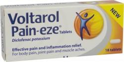 VOLTAROL Pain-eze tablets 12.5mg -  18 Pack
