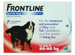 Frontline Spot on for Exrta Large Dogs - 3 Pipettes