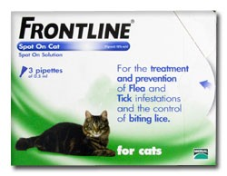 Frontline Spot on for Cats - 3 Pipettes