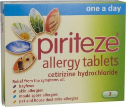 PIRITEZE Allergy One-A-Day - 7 Tablets