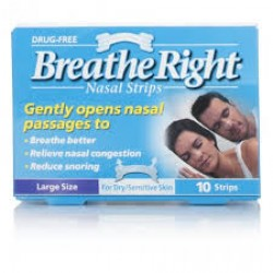BREATHE RIGHT Clear Nasal Strips Large - 10 Strips