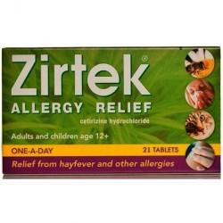 ZIRTEK Allergy - 21 Tablets