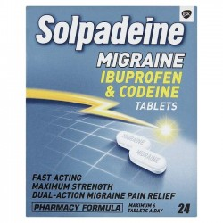 SOLPADEINE Migraine - 24 Tablets *Please note - we can only dispatch 1 codeine item per order*