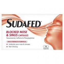 SUDAFED Blocked Nose & Sinus - 16 Capsules