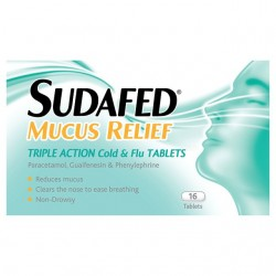 SUDAFED Mucus Relief Triple Action Cold & Flu - 16 Tablets