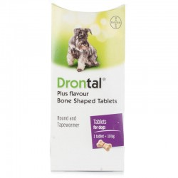 DRONTAL Plus Bone Shaped For Dogs - 2 Tablets