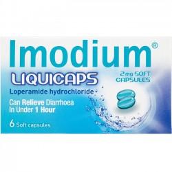 IMODIUM Liquicaps 2mg - 6 Soft Capsules