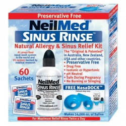 NEILMED Sinus Rinse Kit - 1 Nasal Irrigator & 60 Sachets