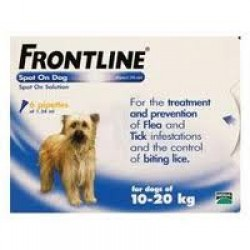 Frontline Spot on for Medium Dogs - 3 Pipettes