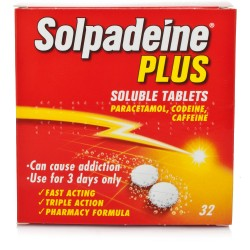 SOLPADEINE Plus - 32 Soluble Tablets *Please note - we can only dispatch 1 codeine item per order*