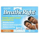 BREATHE RIGHT Clear Nasal Strips Small/Medium - 10 Strips
