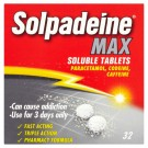 SOLPADEINE Max - 32 Soluble Tablets *Please note - we can only dispatch 1 codeine item per order*