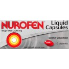 NUROFEN Liquid capsules 200mg -10 pack