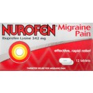 NUROFEN Migraine Pain 342mg -12 Tablets