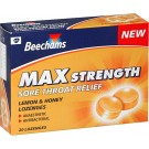 BEECHAMS Honey & Lemon Max Strenght - 20 Lozenges