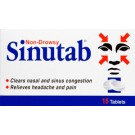 SINUTAB Tablets Non-Drowsy - 15 Pack