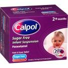CALPOL infant sachets sugar-free 120mg/5ml - 20 pack