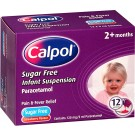 CALPOL infant suspension sachets sugar-free 120mg/5ml -12 pack